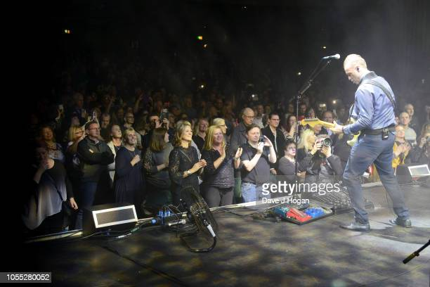 Gary Kemp of Spandau Ballet performs on stage at Eventim Apollo on October 29, 2018 in London, England.