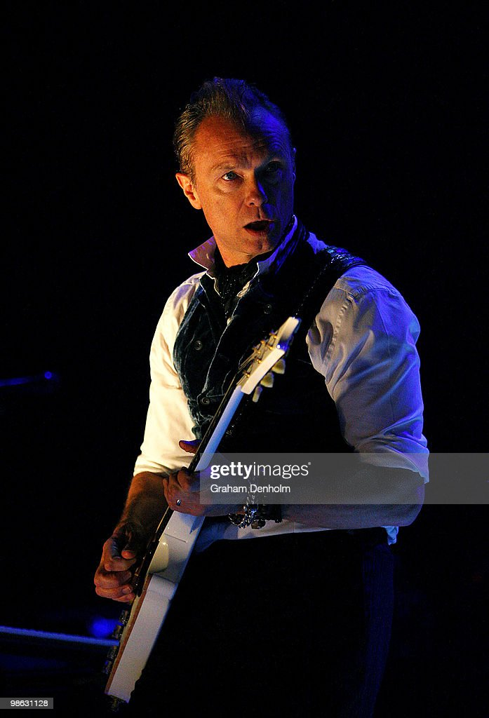 Gary Kemp of Spandau Ballet performs on stage during their concert at the Sydney Entertainment Centre on April 23, 2010 in Sydney, Australia.