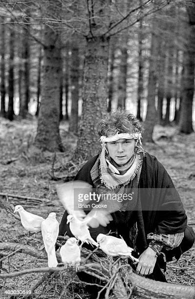 Gary Kemp of Spandau Ballet photographed on location in the Kirkstone Pass Lake District Cumbria during the shooting of a promotional film for their...