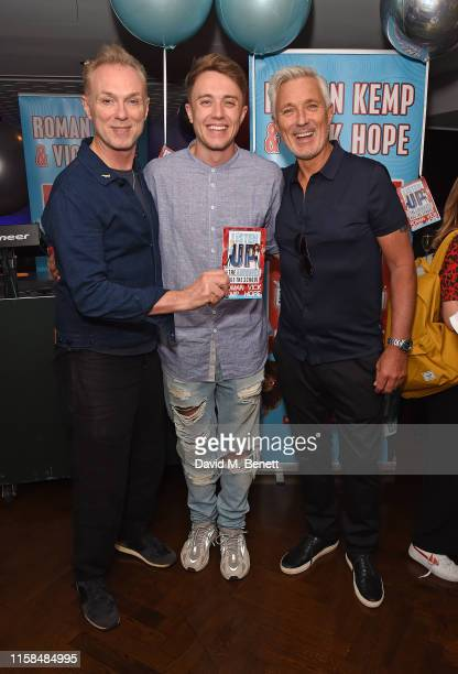 Gary Kemp Roman Kemp and Martin Kemp attend a party to celebrate the upcoming release of Vick Hope and Roman Kemp's new children's book 'Listen Up'...