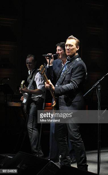 Gary Kemp Steve Norman Tony Hadley and Martin Kemp of Spandau Ballet perform for Radio 2 on November 17 2009 in London England