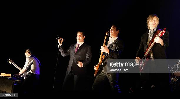 Gary Kemp Tony Hadley Martin Kemp and Steve Norman of Spandau Ballet perform live at Heineken Music Hall on March 9 2010 in Amsterdam Netherlands