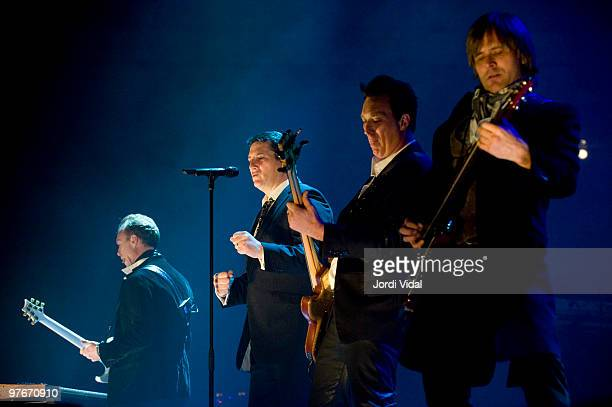 Gary Kemp Tony Hadley Martin Kemp and Steve Norman of Spandau Ballet perform at the Palau Olimpic on March 12 2010 in Badalona Spain