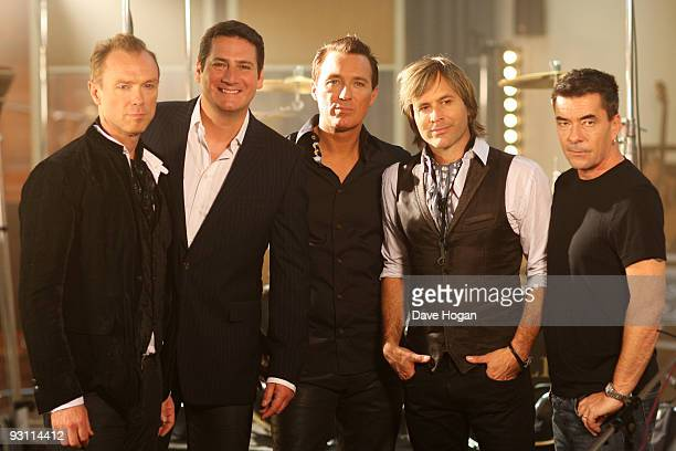 Gary Kemp Tony Hadley Martin Kemp Steve Norman and John Keeble of Spandau Ballet film the video for their new single Once More on October 7 2009 in...