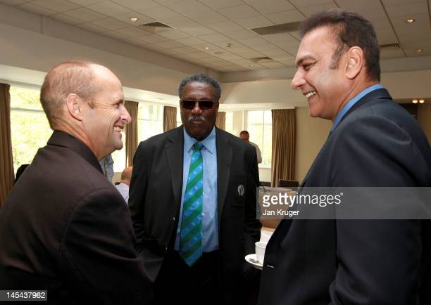 Gary Kirsten Clive Lloyd and Ravi Shastri during the ICC Cricket Committee meeting at Lord's Cricket Ground on May 30 2012 in London England