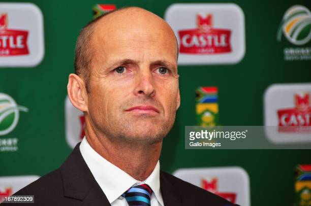 Gary Kirsten during the South African national cricket team squad announcement and kit launch for ICC 2013 Champions Trophy at Sahara Park Newlands...
