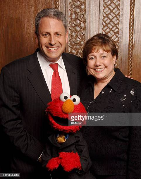 Gary Knell, president and chief executive officer of Sesame Workshop, Elmo and Ann M. Veneman, executive director, UNICEF