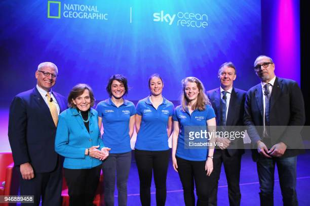 Gary Knell Syliva Earle Sky Ocean Rescue Scholars Martina Capriotti Annette Fayet and Imogean Napper Jeremy Darroch and Editor in Chief at National...