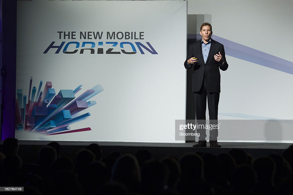 Gary Kovacs, chief executive officer of Mozilla Corp., speaks during a keynote address at the Mobile World Congress in Barcelona, Spain, on Tuesday, Feb. 26, 2013. The Mobile World Congress, where 1,500 exhibitors converge to discuss the future of wireless communication, is a global showcase for the mobile technology industry and runs from Feb. 25 through Feb. 28. Photographer: Angel Navarrete/Bloomberg via Getty Images