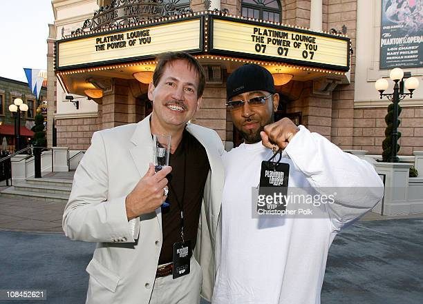 Gary Lafever and Richard Guiton arrive at the Hollywood launch of PlatinumLounge.com at The Globe Theatre on July 7, 2007 in Los Angeles California.