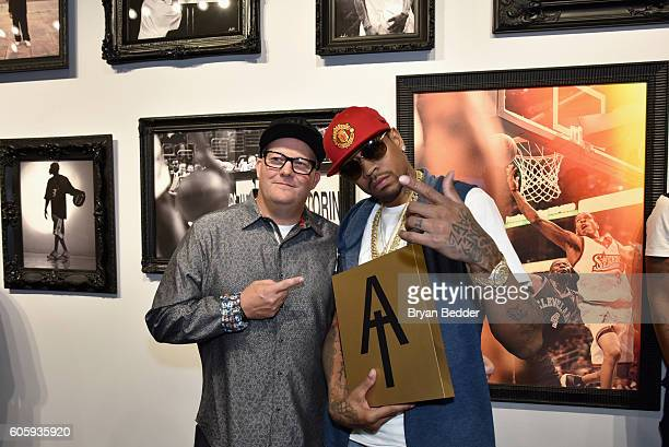 Gary Land and Alen Iverson attend the Reebok X Packer Shoes launch party to celebrate Allen Iverson at Reebok FitHub Union Square on September 15...