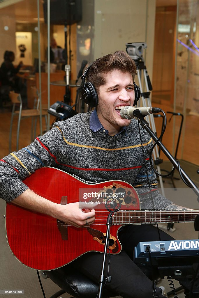 Gary Larsen of Royal Teeth performs at SiriusXM Studios on March 25, 2013 in New York City.