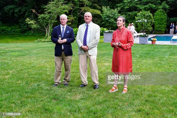 Gary Lawrance Daniel W White and Betsy White attend A Country House Gathering To Benefit Preservation Long Island on June 28 2019 in Locust Valley...