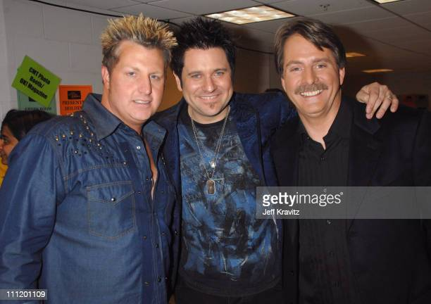 Gary LeVox and Jay Demarcus of Rascal Flatts with Jeff Foxworthy *EXCLUSIVE*