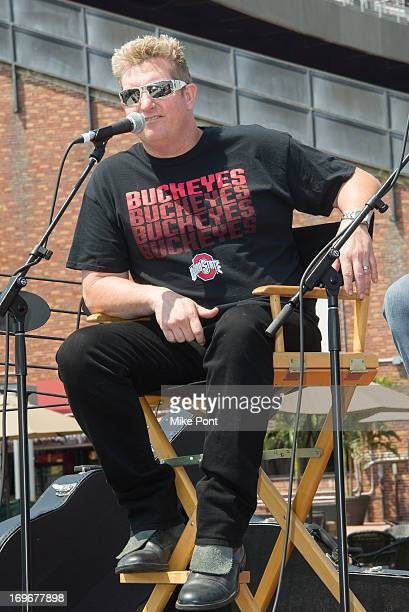 Gary LeVox attends the press preview of the newly restored Nikon At Jones Beach Theater after being damaged by Superstorm Sandy in October 2012 at...