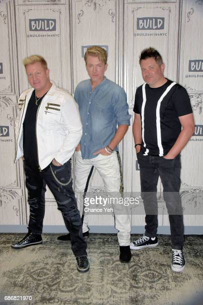 Gary LeVox Joe Don Rooney and Jay Demarcus of Rascal Flatts attend Build series to promote new album at Build Studio on May 22 2017 in New York City