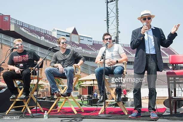Gary LeVox Joe Don Rooney Jay DeMarcus and Ron Delsener attend the press preview of the newly restored Nikon At Jones Beach Theater after being...