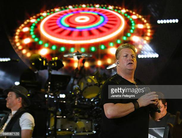 Gary LeVox of Rascal Flatts performs at Rascal Flatts Rhythm and Roots Tour at Nikon at Jones Beach Theater on September 1 2016 in Wantagh New York