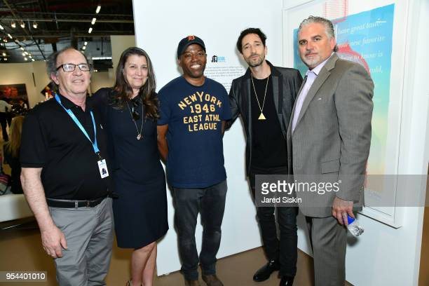 Gary Lichtenstein Dorothea Hurley Cey Adams Harry Benson Adrien Brody and Nick Korniloff attend Art New York on May 3 2018 at Pier 94 in New York City