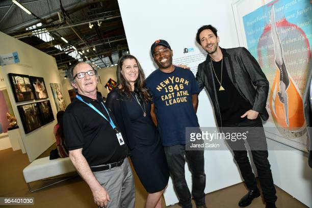 Gary Lichtenstein Dorothea Hurley Cey Adams Harry Benson and Adrien Brody attend Art New York on May 3 2018 at Pier 94 in New York City