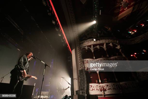 Gary Lightbody and Nathan Connolly of Snow Patrol perform live at the Olympia Theatre on May 15, 2018 in Dublin, Ireland.