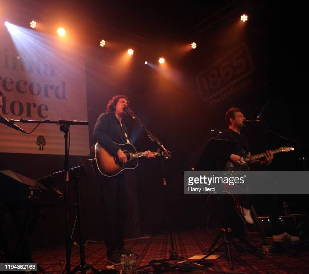 Gary Lightbody and Nathan Connolly of Snow Patrol perform on the Reworked Live Album Launch at The 1865 on December 16, 2019 in Southampton, England.