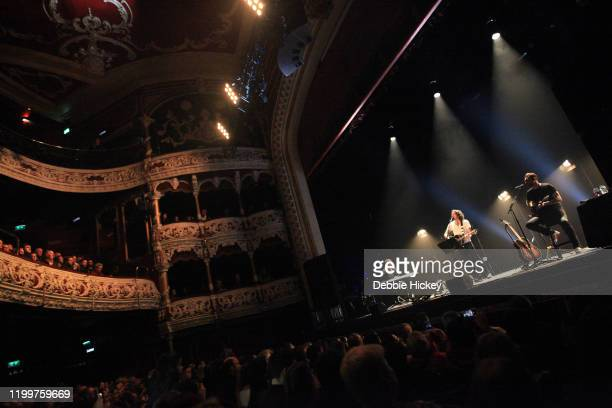Gary Lightbody and Nathan Connolly of Snow Patrol performs at Olympia Theatre on January 15, 2020 in Dublin, Ireland.