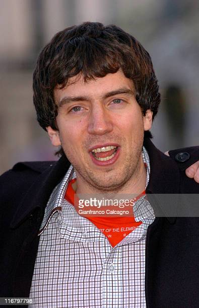 Gary Lightbody from Snow Patrol during The Mastercard Brit Awards 2007 Outside Arrivals at Earls Court in London Great Britain