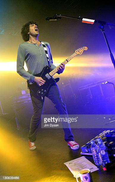Gary Lightbody of Irish indie group Snow Patrol performs live on stage at the Kentish Town Forum on October 27, 2011 in London, England.