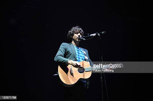 Gary Lightbody of Northern Irish alternative rock band Snow Patrol live on stage at V Festival August 23 Hylands Park