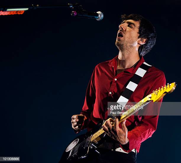 Gary Lightbody of rockband Snow Patrol performs on stage at Heineken Music Hall on May 31, 2010 in Amsterdam, Netherlands.