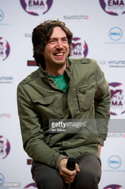 Gary Lightbody of Snow Patrol attends a MTV Europe Music Awards 2011 press conference at Odyssey Arena on November 5 2011 in Belfast Northern Ireland