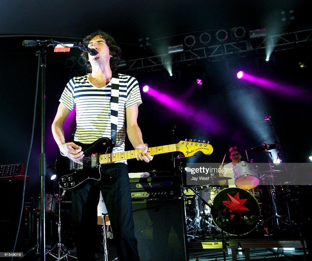Gary Lightbody of Snow Patrol in concert at Stubb's Bar-B-Q on October 6, 2009 in Austin, Texas.