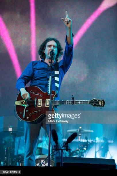 Gary Lightbody of Snow Patrol performing during Isle Of Wight Festival 2021 at Seaclose Park on September 18, 2021 in Newport, Isle of Wight.