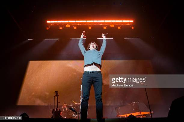 Gary Lightbody of Snow Patrol performs at First Direct Arena on January 29, 2019 in Leeds, England.