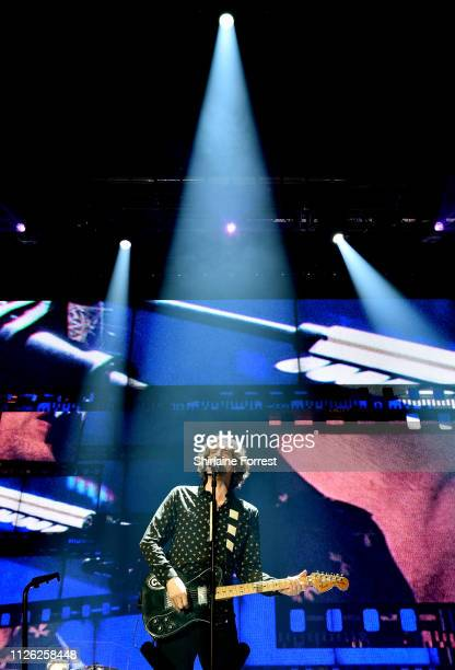 Gary Lightbody of Snow Patrol performs at Manchester Arena on January 30, 2019 in Manchester, England.