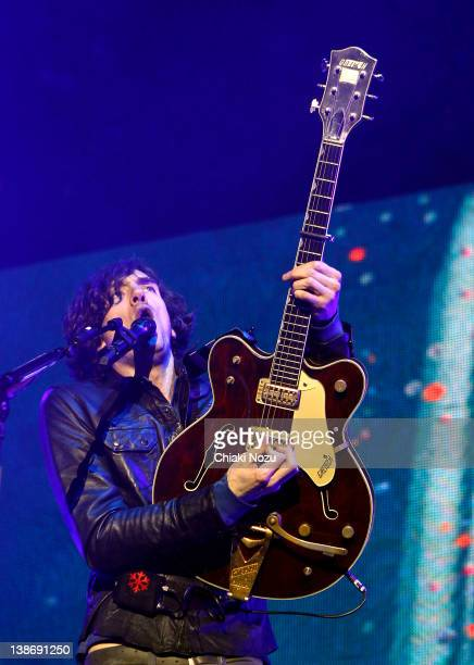 Gary Lightbody of Snow Patrol performs at O2 Arena on February 10, 2012 in London, England.