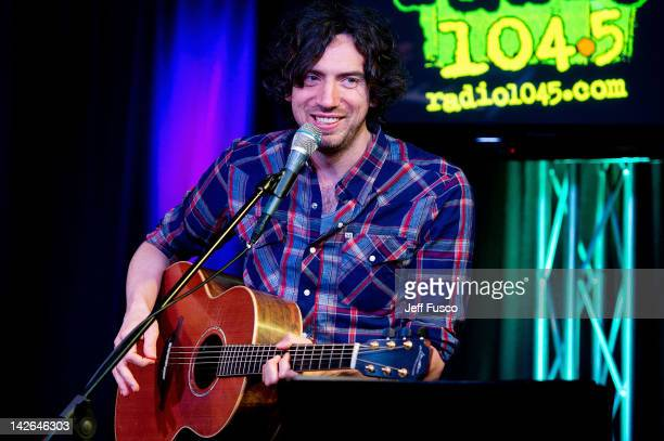 Gary Lightbody of Snow Patrol performs at the Radio 1045 iHeart Performance Theater on April 10 2012 in Bala Cynwyd Pennsylvania