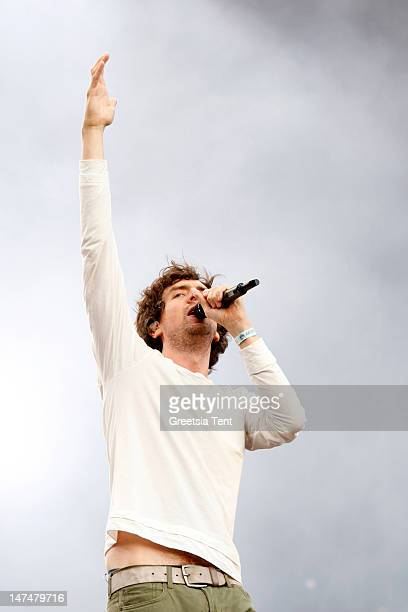 Gary Lightbody of Snow Patrol performs during the Rockin' Park Festival at Goffertpark on June 30 2012 in Nijmegen Netherlands