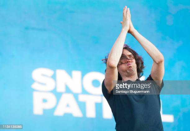 Gary Lightbody of Snow Patrol performs during the third day of Lollapalooza Buenos Aires 2019 at Hipodromo de San Isidro on March 31 2019 in Buenos...