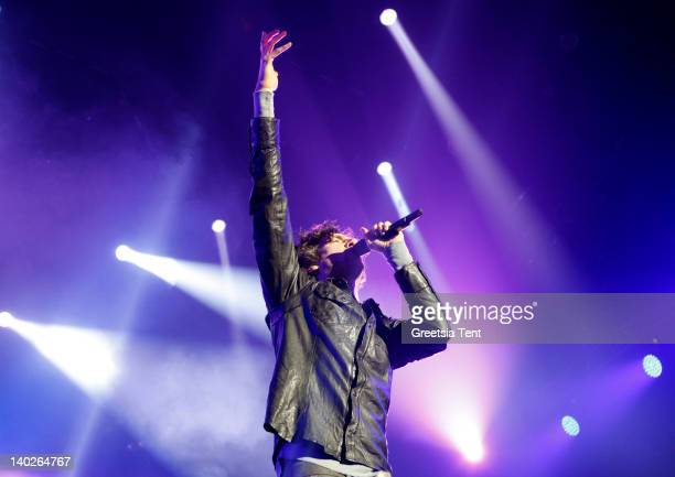 Gary Lightbody of Snow Patrol performs live at Ahoy on March 1, 2012 in Rotterdam, Netherlands.
