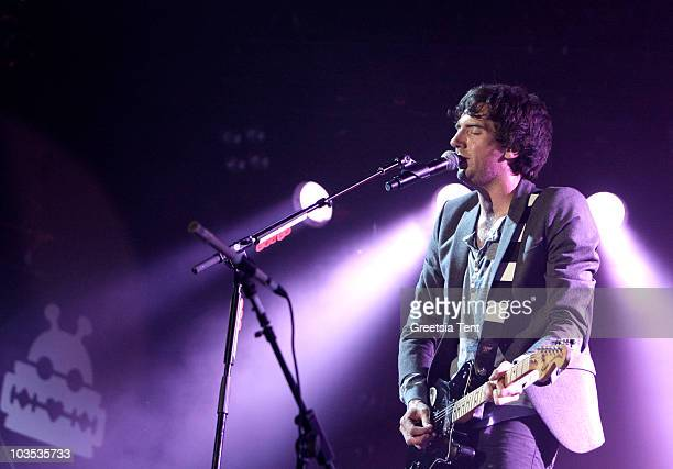 Gary Lightbody of Snow Patrol performs on day two of the Lowlands Festival 2010 on August 21, 2010 in Biddinghuizen, Netherlands.