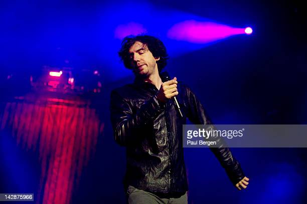 Gary Lightbody of Snow Patrol performs on stage at Ahoy Rotterdam Netherlands 1st March 2012