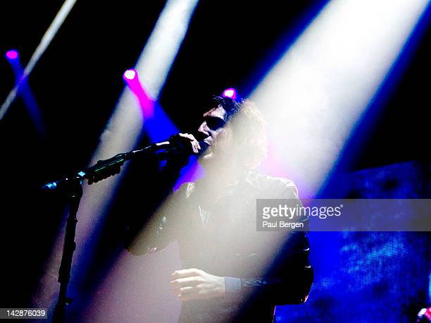 Gary Lightbody of Snow Patrol performs on stage at Ahoy, Rotterdam, Netherlands, 1st March 2012.