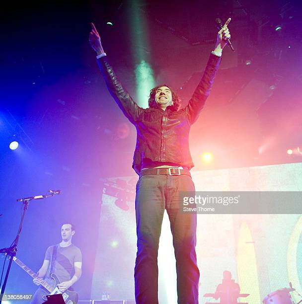 Gary Lightbody of Snow Patrol performs on stage at Nottingham Capital FM Arena on February 1 2012 in Nottingham United Kingdom