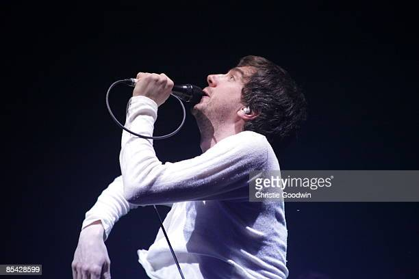 Gary Lightbody of Snow Patrol performs on stage at O2 arena on March 14, 2009 in London, England.