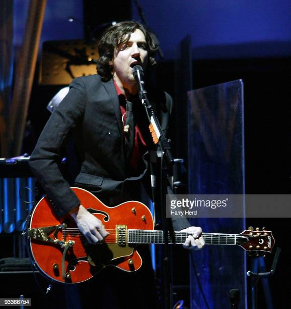 Gary Lightbody of Snow Patrol performs on stage at Royal Albert Hall on November 24, 2009 in London, England.