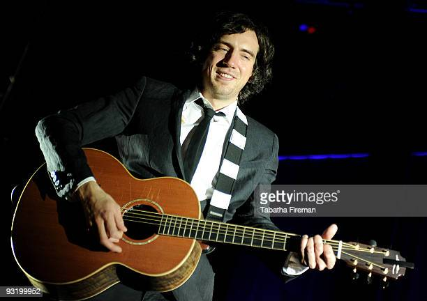 Gary Lightbody of Snow Patrol performs on stage at the Brighton Centre on November 18 2009 in Brighton England