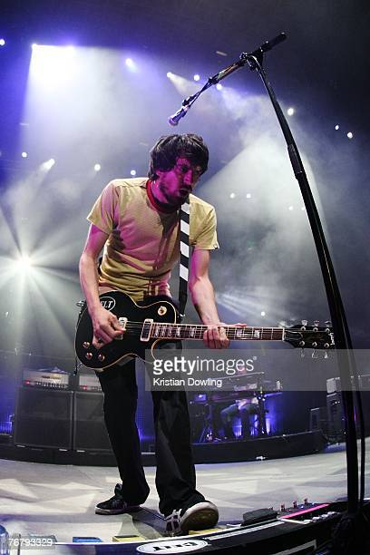 Gary Lightbody of Snow Patrol performs on stage in concert at Rod Laver Arena on September 17 2007 in Melbourne Australia