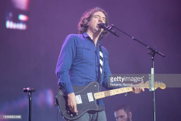 Gary Lightbody of Snow Patrol performs on the Main Stage on the third day of TRNSMT Festival 2021 on September 12, 2021 in Glasgow, Scotland.